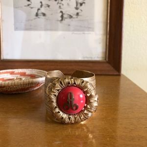 """Anthropologie Letter """"A"""" Cuff"""